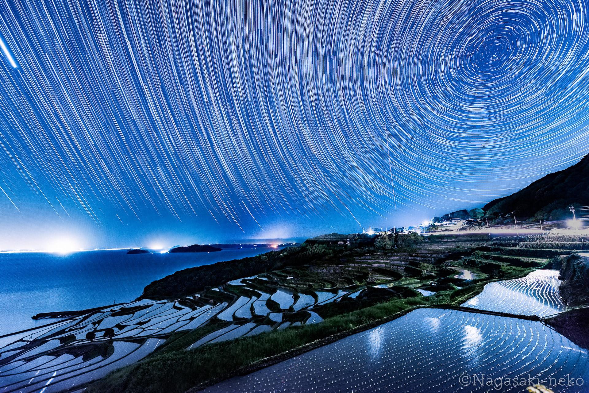土谷棚田と星