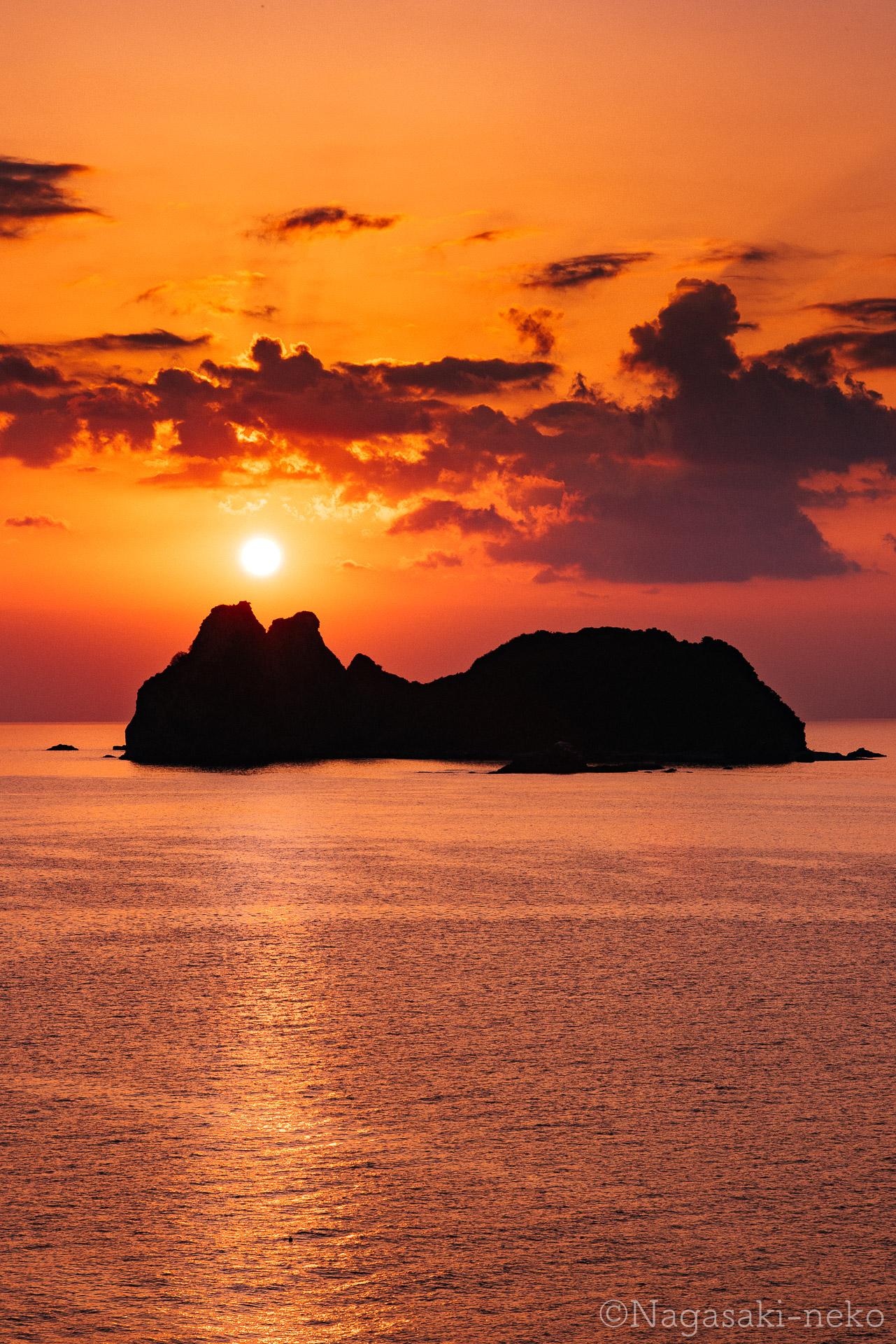 神楽島の夕日