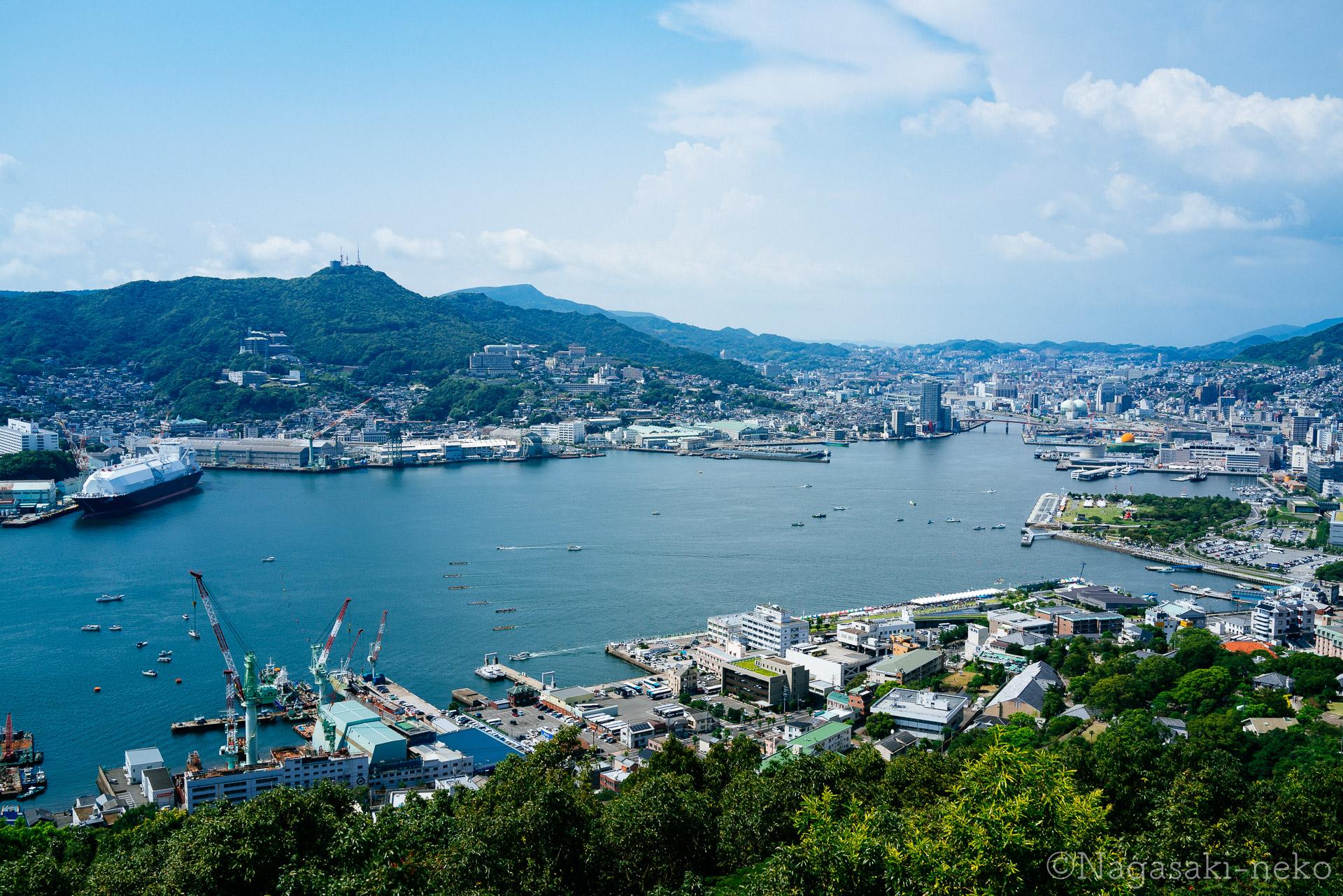 鍋冠山公園から見た長崎港