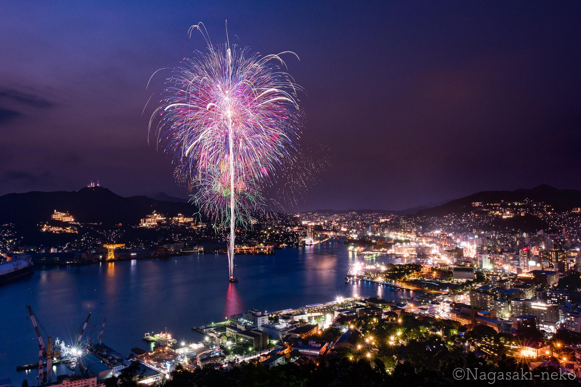 鍋冠山公園の花火