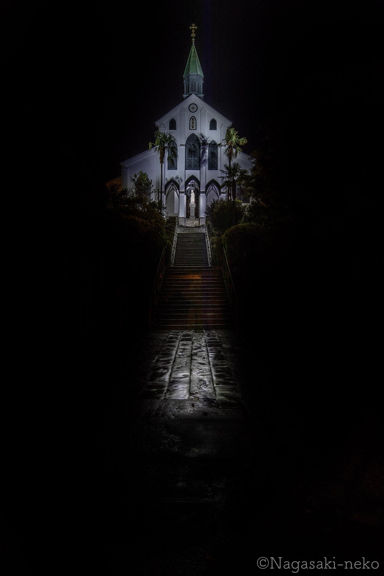 大浦天主堂の夜