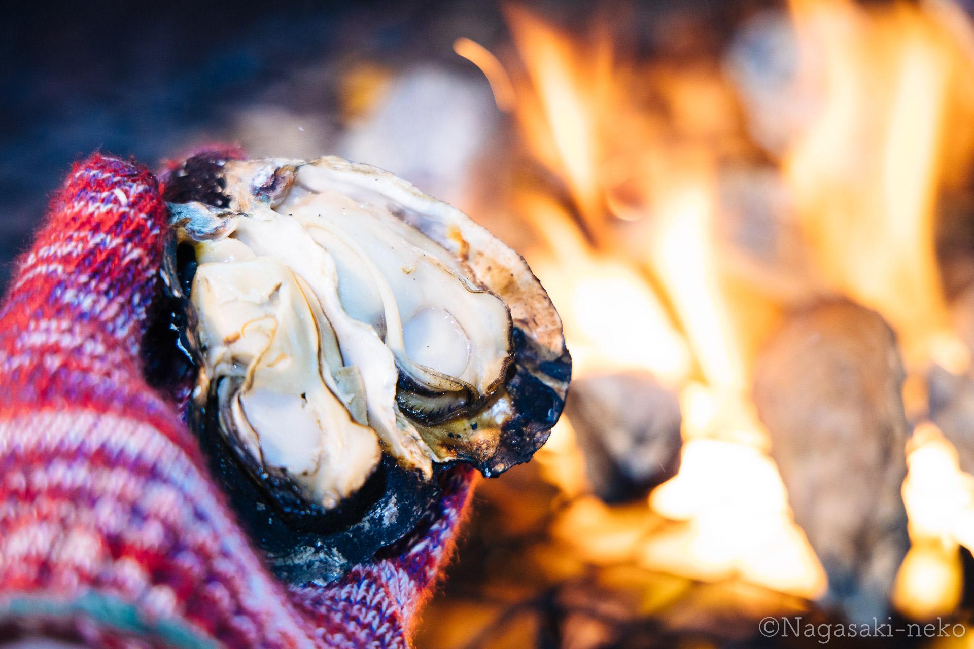 高尾水産の牡蠣焼き